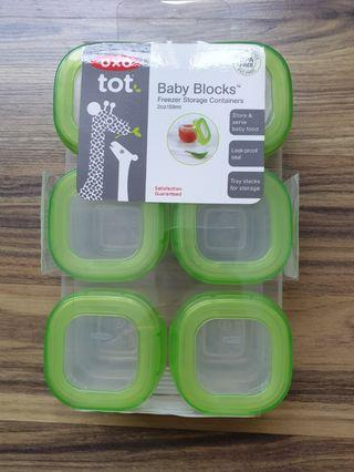 🚚 OXO Baby Blocks food storage containers 6pack