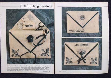 Still Stitching Envelope Cross Stitch Chart