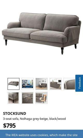 🚚 IKEA Stocksund 3 seater sofa
