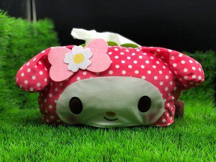 Sanrio My Melody Tissue Cover [Pokko Dot] (Toreba)