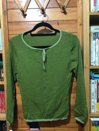 🚚 薄款綠色上衣