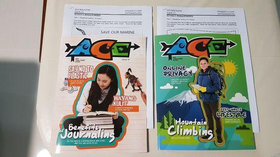 ACE Magazines Issue 26 & 27 with worksheets-NEW/NOT READ (2 for $6 only)