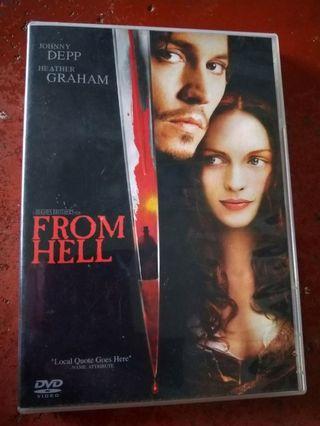 English DVD movie - From Hell (starring Johnny Depp)
