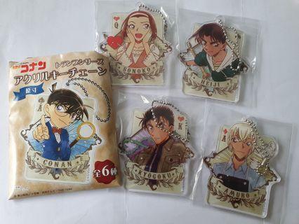 Original Detective Conan Acrylic Keychain (Sonoko, Kyogoku, Heji, Amuro)