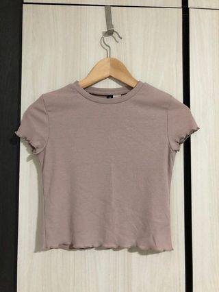 H&M dusty pink crop top