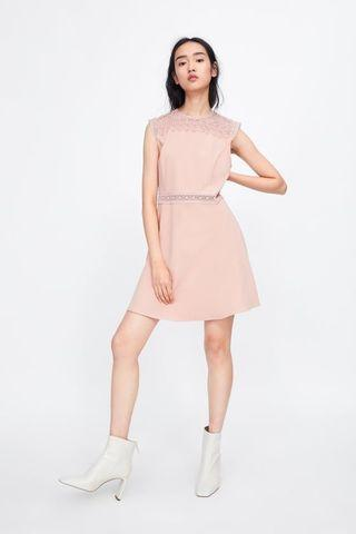 BNWT Zara contrast lace dress