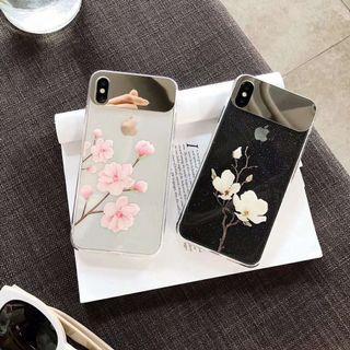 Mirror flower glitter  iphone 6 7 8 plus X XR XS Max case
