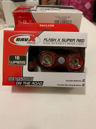 RavX Flash X Super Red high intensity rear light
