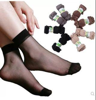 🚚 Sheer black stocking socks ($2 for 5)  #MRTjurongeast