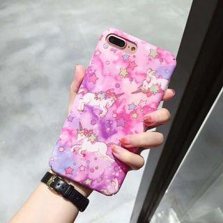 Unicorn pink vivo iphone 6 7 8 plus X XR XS Max oppo
