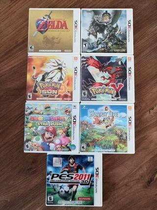 3DS Games for sale Pokemon Mario PES RM70