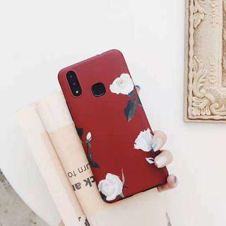 Red flower iphone 6 7 8 plus X XR XS Max case oppo vivo