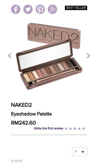 Naked 2 Eyeshadow Palette authentic
