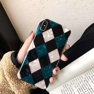 Diamond marble conch checkers iphone 6 7 8 plus X XR XS Max