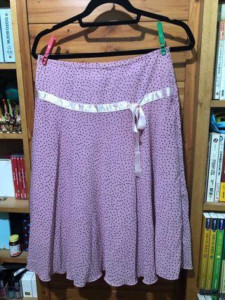 粉色點點裙