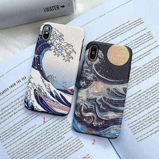 Waves ocean sea blue art iphone 6 7 8 plus X XR XS Max case