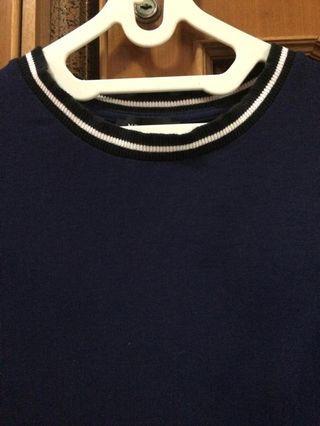 new look navy top