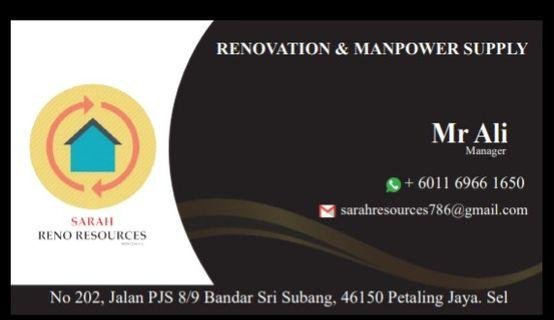 Renovation house office restaurant shop srevis