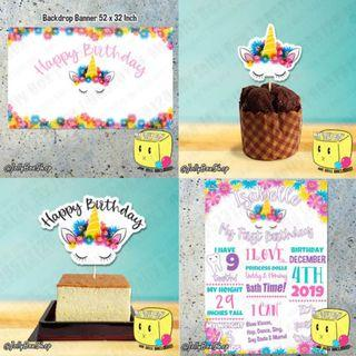 Unicorn Party Decoration Package #unicornTheme #Birthdaydeco