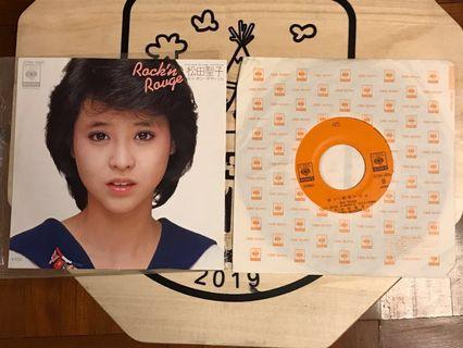 """「免費」松田聖子Rock'n Rouge 7""""細黑膠唱片(日本版)"""