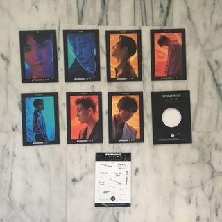 got7 spinning top postcards set