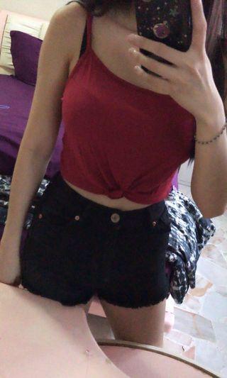 🚚 Red Wine Crop Top
