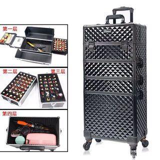 4 layer makeup manicure pedicure luggage