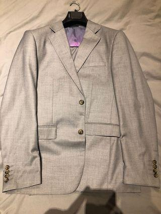 Grey Benjamin Barker slim cut suit Sz 50