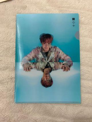 BTS Official WINGS TOUR merch J-HOPE Clear File