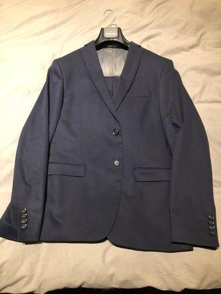 🚚 Zara slim cut Navy blue suit Sz 52