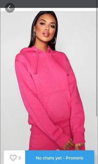 Pink oversized jumper