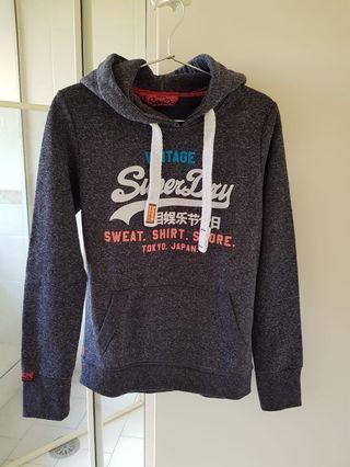 Superdry navy hoodie XS