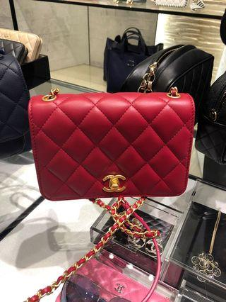 Chanel cf 20 Bag red