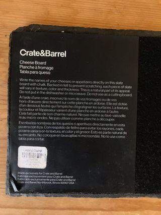 Crate and Barrel Slate Cheese Board