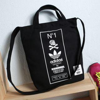 Instock ADIDAS Original by The Neigborhood Two Way Carry Sling Tote Bag (Black) PO111500183 *GWP Japanese Magazine* + FREE Post!