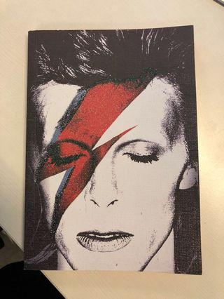 David Bowie Shimmer A5 lined notebook