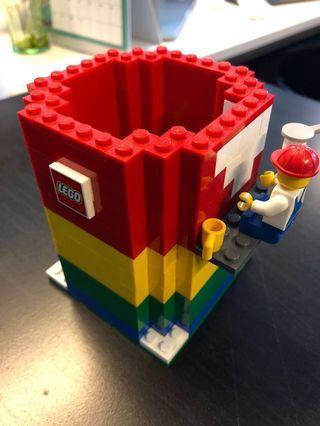 Lego Pencil holder and Mini figure