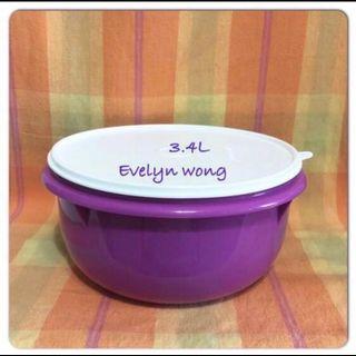🌷Free Registered! SALE!Tupperware Large Fix N Mix 3.4L Multipurpose/Desserts/Salad/Mixing Bowl - Purple