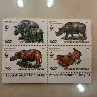Perangko Indonesia edisi Binatang langka