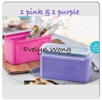 🌷Free Registered!  Set of 2! Tupperware Rectangle Ezy Keeper/Multipurpose Keeper 2.6L - Pink & Purple