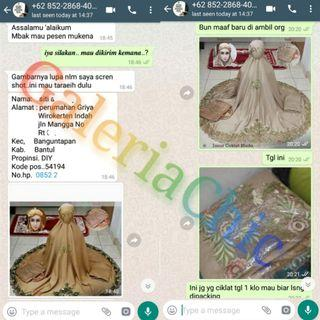 Mukena Bordir Super Cantik Buyer