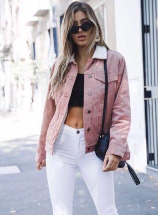 Bubble Gum Jacket - Dusty Pink