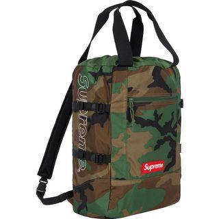 💯 Supreme Convertible Tote Backpack (Woodland Camo)