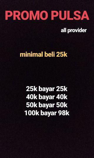 Jual Pulsa Murah (25.000) All Providers