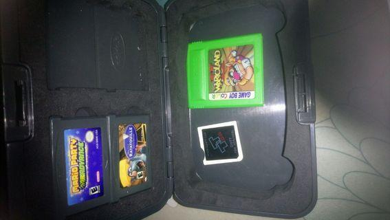 Gameboy Advance Case + Games