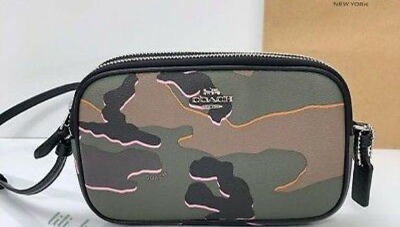 Coach camouflage camera bag
