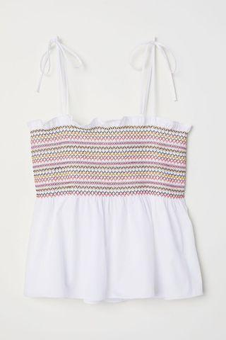 H&M white top with straps