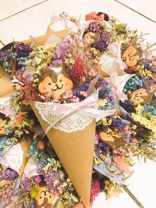 🚚 婚禮小物 松鼠甜筒(花多)