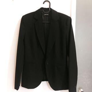 Zara ❤️西裝外套 黑色 襯衫外套 全黑 有腰身