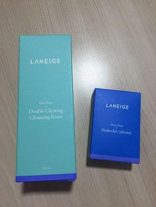 🚚 $20 MAILED!! Laneige Mini Pore Double Clearing Foam 150ml + Laneige Waterbank Hydro Kit 3items